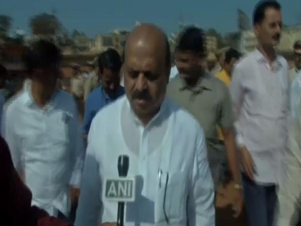 Karnataka Home Minister Basavaraj Bommai speaking to ANI in Hubli on Wednesday