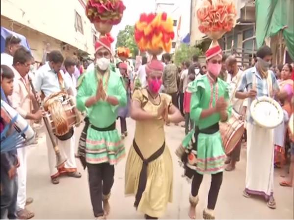 Bonalu celebration taking place in Hyderabad