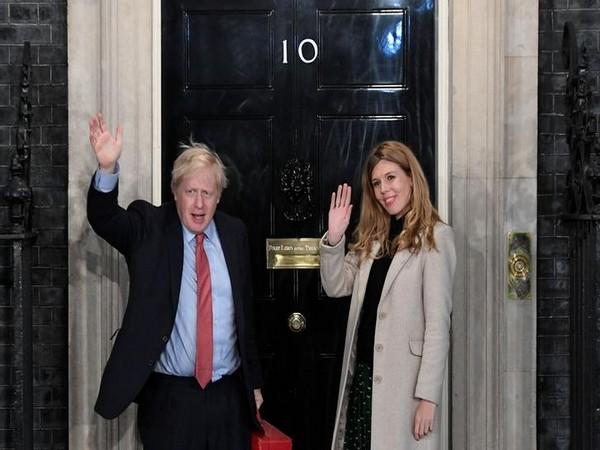 British Prime Minister Boris Johnson and girlfriend Carrie Symonds (File pic)