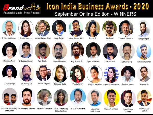 The winners of the Icon India Business Awards, Online Edition 2020