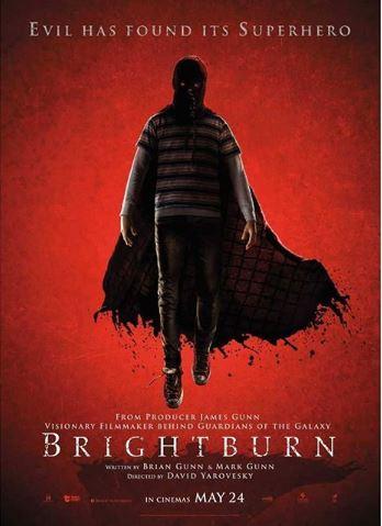 Poster of James Gunn-produced horror film 'Brightburn' (Image courtesy: Instgram)