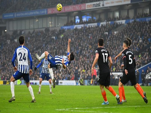 Brighton and Chelsea in action in Premier League match.