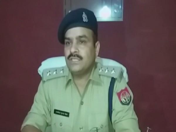 Investigation Officer Syana Violence case Raghavendra Mishra speaking to ANI in Bulandshahr, Uttar Pradesh on June 28. Photo/ANI