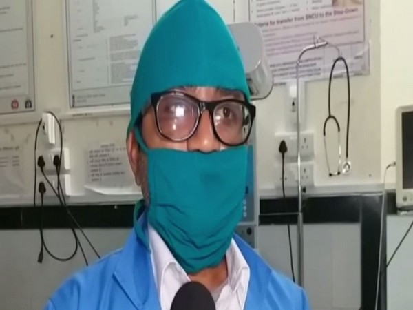 Duty in-Charge at the hospital, Hitesh Soni talking to reporters in Bundi. photo/ANI