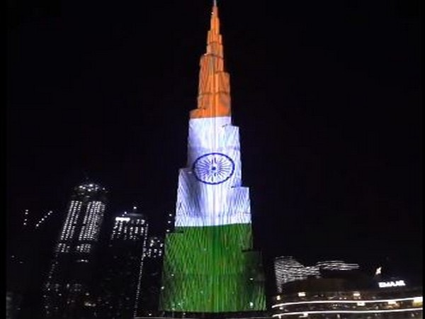 Burj Khalifa lights up with Tricolour (Photo Credit - Twitter/Indian Embassy)