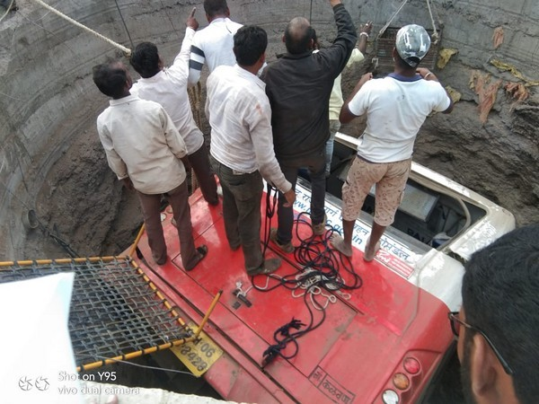 Rescue and search operation is still on at the accident site. Photo/ANI