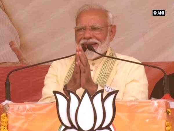 Prime Minister Narendra Modi speaking at an election rally in Buxar, Bihar, on Tuesday. Photo/ANI