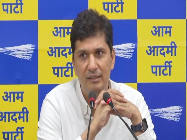 Aam Aadmi Party spokesperson Saurabh Bhardwaj. (Photo/ANI)