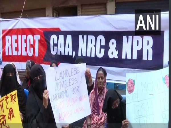 Women in Bengaluru protesting against CAA, NPR and NRC.