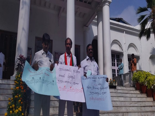 Three BJP MLAs walked out of special session called for resolution against CAA in Puducherry Assembly. Photo/ANI