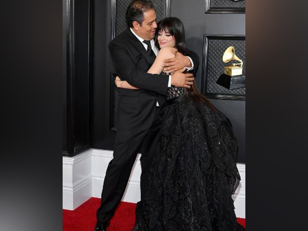 Camila Cabello with her father in the red carpet of  62nd Annual Grammy Awards (Image courtesy: Instagram)