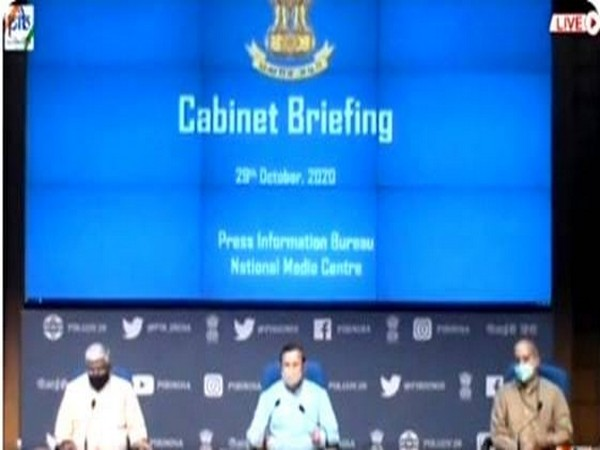 A visual from the cabinet briefing on Thursday in New Delhi.