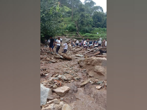 Destruction caused by a cloudburst in Chamoli district earlier this month. (ANI file photo)