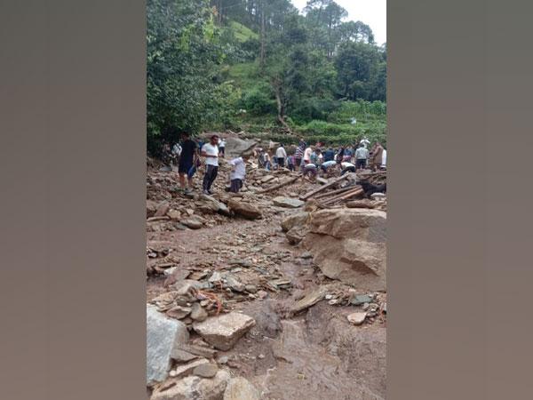 Destruction caused by cloudburst in Chamoli district. (ANI file photo)