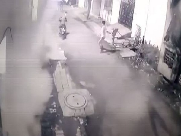 CCTV footage of the incident (Photo/ANI)