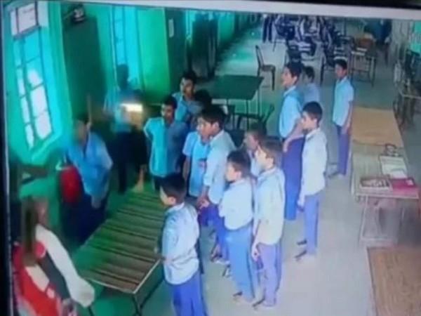 The entire incident is caught on CCTV camera installed at Gandhi Seva Niketan Ashram.