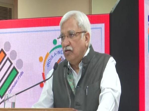 CEC Sunil Arora speaking on Thursday. Photo/ANI
