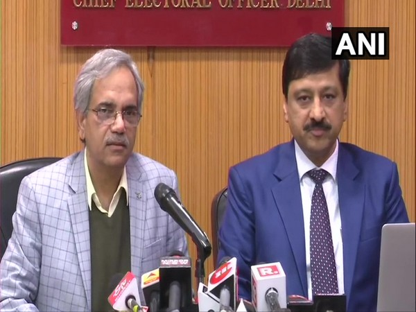 Delhi CEO Ranbir Singh speaking at a press conference on Sunday. Photo/ANI
