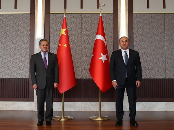 Turkish Foreign Minister Mevlut Cavusoglu and Chinese Foreign Minister Wang Yi met last month.
