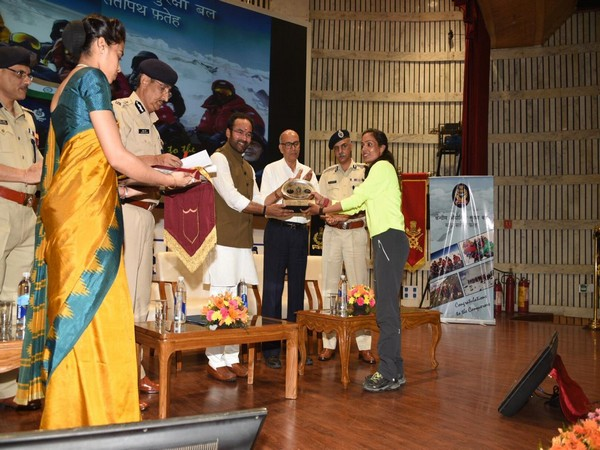 MoS for Home Affairs, G Kishan Reddy at the felicitation ceremony in New Delhi on Wednesday.