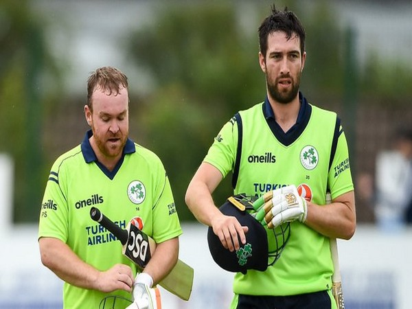 Paul Striling (L) and Andrew Balbirnie (R) (Photo/Cricket Ireland Twitter)