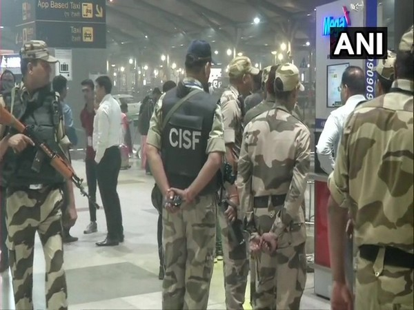 Security was tightened at the Delhi Airport after a unattended bag was spotted. (Photo/ANI)