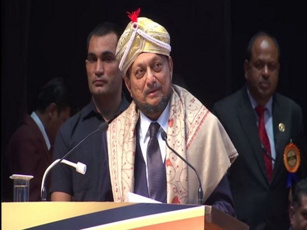Chief Justice of India SA Bobde addressing an event in Bengaluru on Saturday.