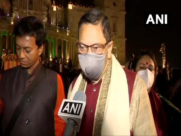 Netaji Subhas Chandra Bose's grandnephew and BJP leader CK Bose talking to ANI in Kolkata on Saturday. (Photo/ANI)