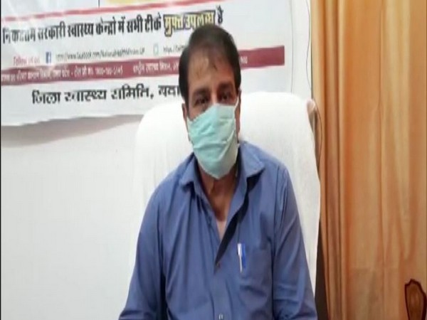 Yashpal Singh, Chief Medical Officer Badaun district speaks to the reporters on Thursday. (Photo/ANI)