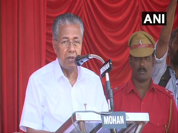 Kerala Chief Minister Pinarayi Vijayan during a address at Palayam martyrs square in Thiruvananthapuram against the Citizenship Amendment Act.