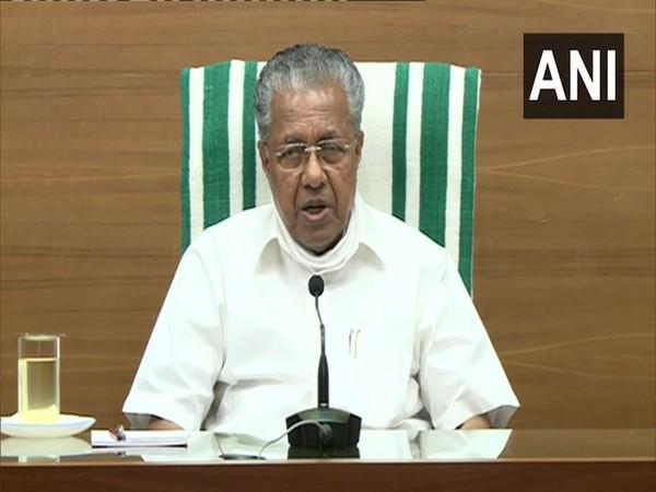 Kerala Chief Minister Pinarayi Vijayan speaking about elephant death on Wednesday. Photo/ANI