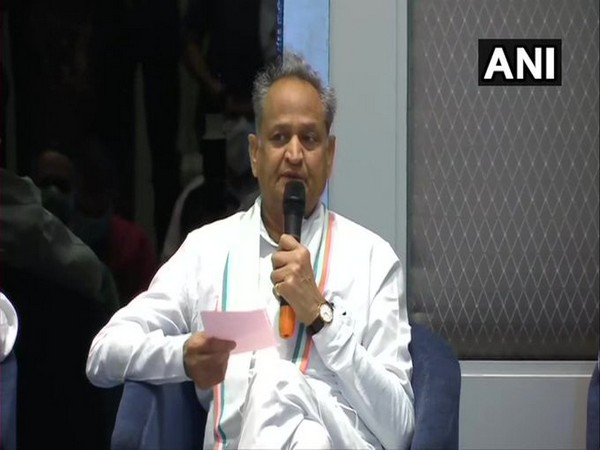 Rajasthan Chief Minister Ashok Gehlot. [Photo/ANI]