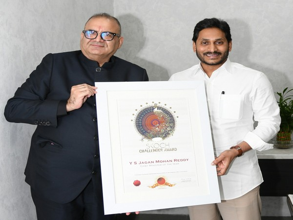 Andhra Pradesh Chief Minister YS Jagan Mohan Reddy conferred Chief Minister of the Year Award by SKOCH Group.