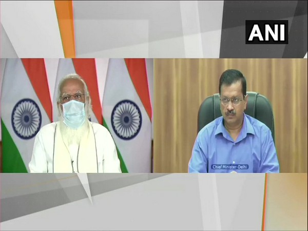 Prime Minister Narendra Modi and Delhi Chief Minister Arvind Kejriwal during the COVID-review conference on Friday.