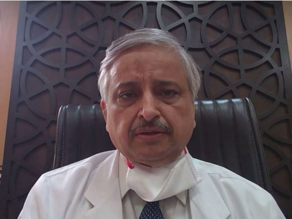 AIIMS Director Randeep Guleria talking to ANI on Wednesday. Photo/ANI