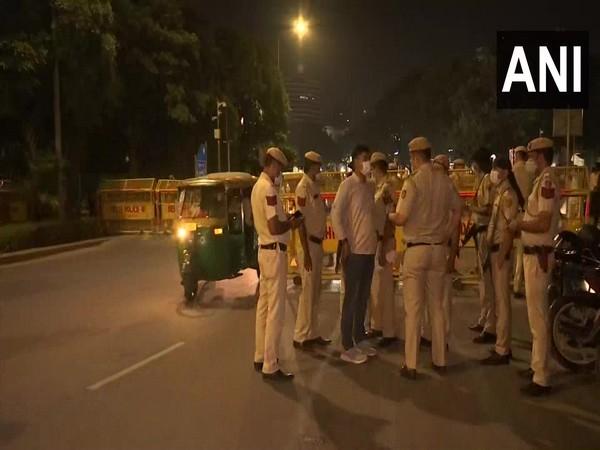 Visual of police officials at Centra Delhi (File Photo/ANI)