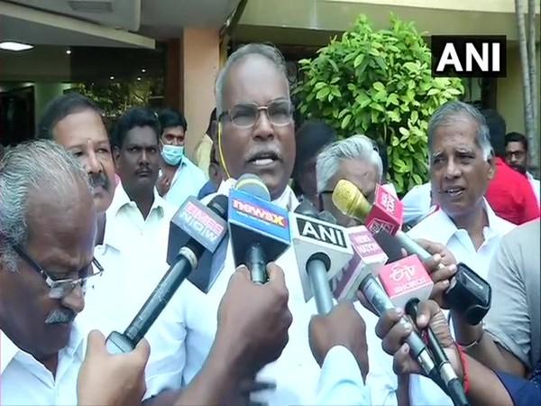 Tamil Nadu CPI (M) General Secretary Balakrishnan (Photo/ANI)