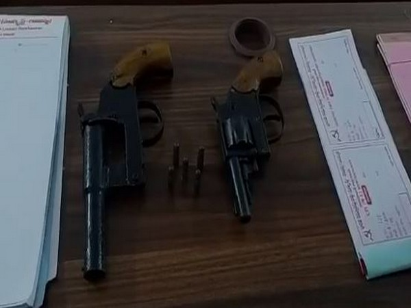 Arms recovered from Naxals in Telangana.