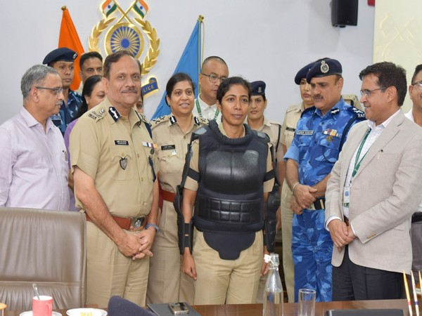 CRPF DG unveiled women specific protective gear on Friday. (Photo by CRPF)