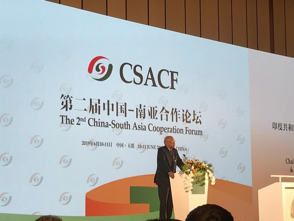 Chairman of Indian Chamber of Commerce (North-East) Mahesh Saharia at the 2nd CSACF Forum in Kunming on Monday.