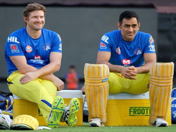 CSK all-rounder Shane Watson with skipper MS Dhoni. (Photo/Shane Watson Twitter)
