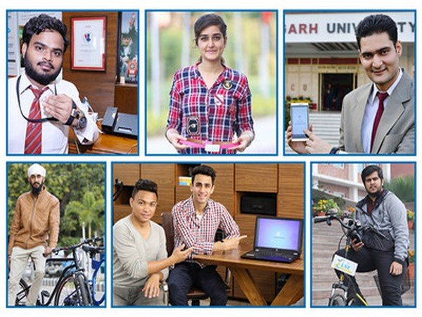 Some of the young entrepreneurs of Chandigarh University who have been successful in establishing their venture at CU-TBI