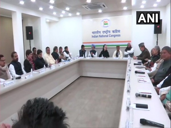 Visual from the CWC meeting held in New Delhi on Saturday. Photo/ANI