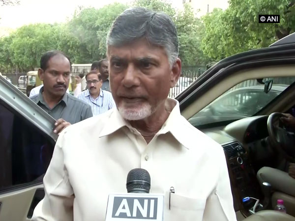 Andhra Pradesh Chief Minister N Chandrababu Naidu speaking to ANI in New Delhi on Tuesday. Photo/ANI