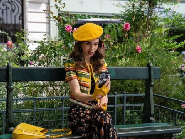 Lily Collins in season 2 of 'Emily in Paris' (Image Source: Instagram)