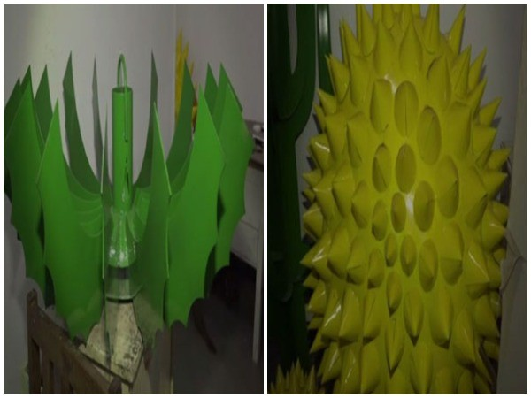 The fine art faculty of Maharaja Sayajirao University, Vadodara, is preparing unique and colorful art pieces of iron cacti for the Cactus Garden. (Photo/ANI)