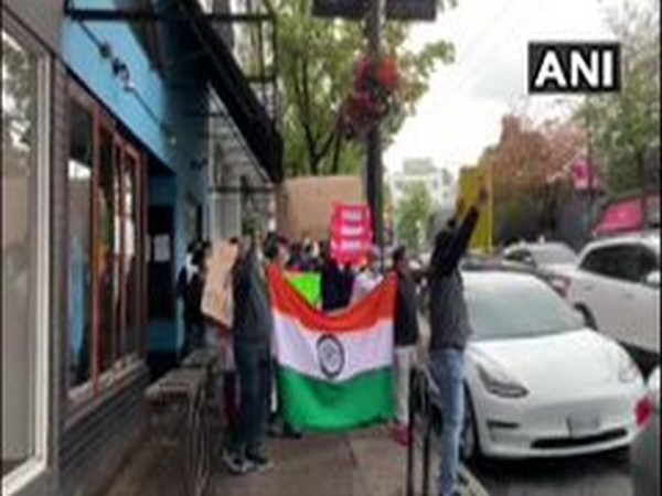 Indian community in Canada on Wednesday held an anti-China protest outside the Bejing's Consulate office in Vancouver.
