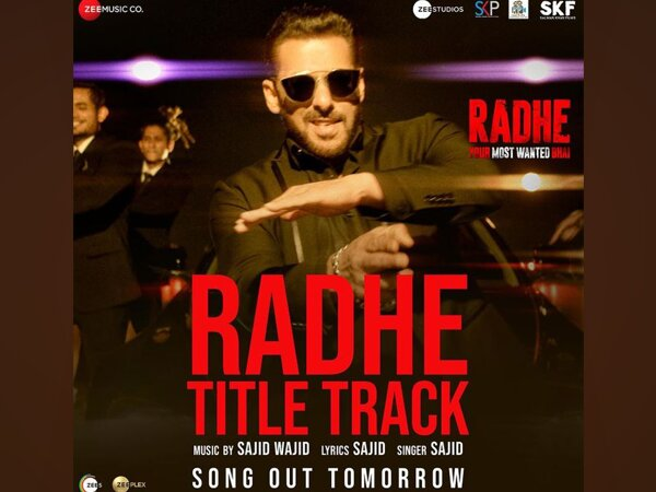 Poster of Radhe's title track (Image Source: Instagram)