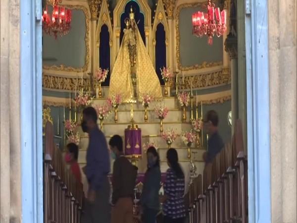 A visual from a church in Mumbai. (Photo/ANI)
