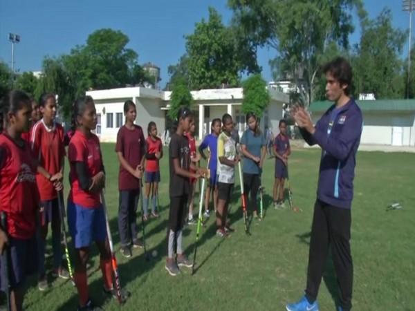 Vickrant Mahajan aims to motivate athletes to set their sights on Gold. (Photos/ANI)
